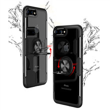 For Case Iphone 7plus 7 Plus Phone Clear Cover Cases Magnetic Holder Ring
