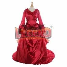 Дракула Брэма Стокера Mina Харкер красный суеты Необычные платья Взрослый Для женщин Хэллоуин красный средневековый Дракула платье