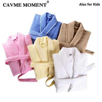 CAVME Pure Cotton Terry Bathrobe Kimono Spa Hotel Robe for Women Men Long Robes Family Homewear Toweling Nightgown Long Lounge - DISCOUNT ITEM  43 OFF Underwear & Sleepwears