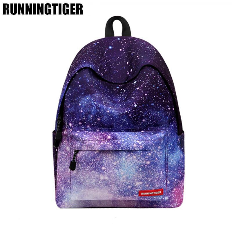 Backpack For Teenage Girls School Backpack Bag Stars Universe Space Print Canvas Backpacks WM550Z