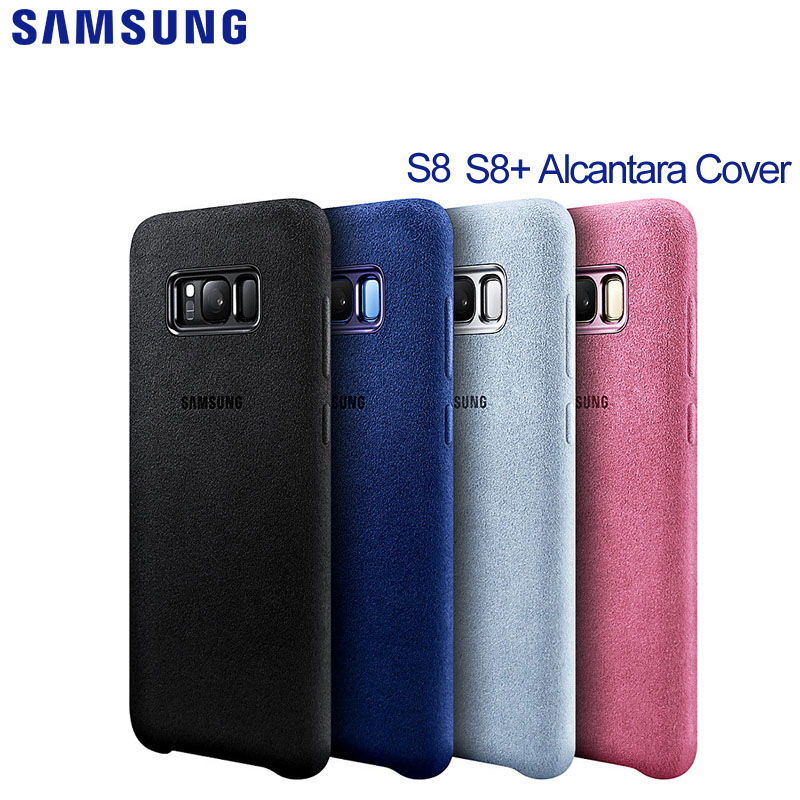 new style c857e 841dc US $63.99 |SAMSUNG Original S8+ Alcantara Cover for Galaxy S8 G9500 G9508  S8+ G9550 S8 Plus SM G9 SM G Cover-in Half-wrapped Case from Cellphones &  ...