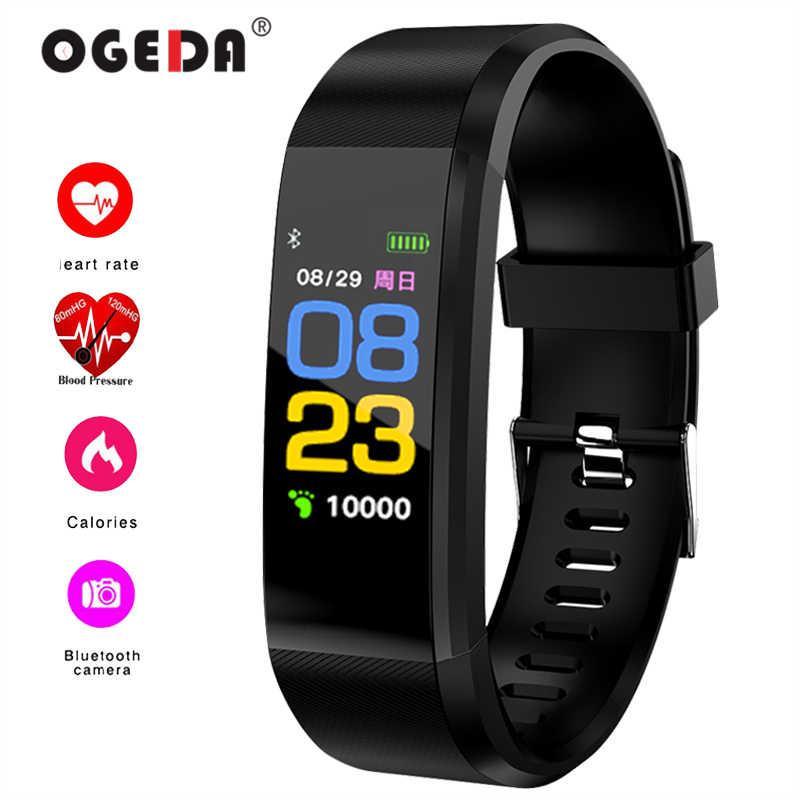 OGEDA 2019 גברים חכם ספורט שעון צמיד בריאות לב קצב ניטור להקת כושר גשש עמיד למים חכם שעון זכר