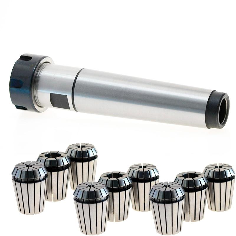 9pcs spring collet MT4 ER25 M16 Collet chuck handle 4 Morse Cone Milling Taper MT4 Toolholder