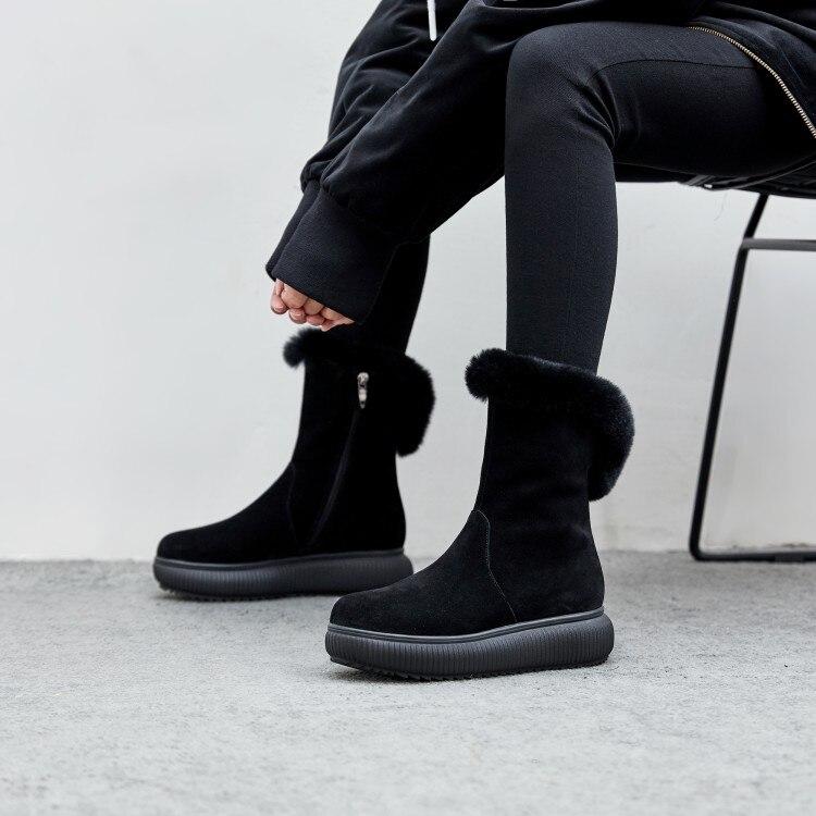 Zapatos Plana Gamuza Bota Negro Nieve 2018 Invierno Calzado Tobillo rosado Zorssar Las Piel Plataforma Moda Mujer Mujeres Rosa Botas De wZ6qAfY