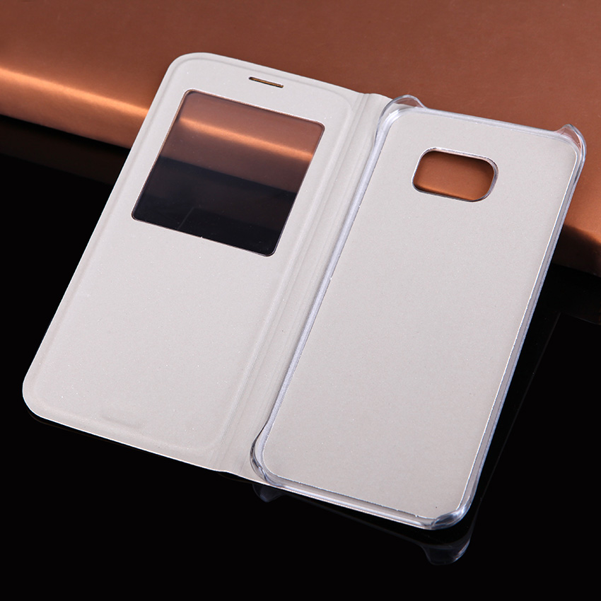 489b7e51a Slim Window View Flip Cover Shockproof Leather Case Cell Phone Carrying Bag  Mask For Samsung Galaxy ...