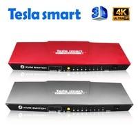 Tesla smart USB HDMI KVM Switch 4 Port USB KVM HDMI Switch Support 3840*2160/4K*2K IR Extra USB 2.0 Many Computer Mouse&Keyboard