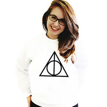 2016 Harajuku Style Sweatshirt Harry Potter and The Deathly Hallows Printing Pullover Casual Hoodies Women Tops Printed Hoody