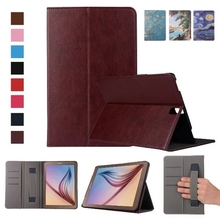 Fashion High Hand strap wallet ID card pu leather stand holder smart cover case for Samsung Galaxy Tab S3 9.7 T820 SM-T820 T825 цена и фото
