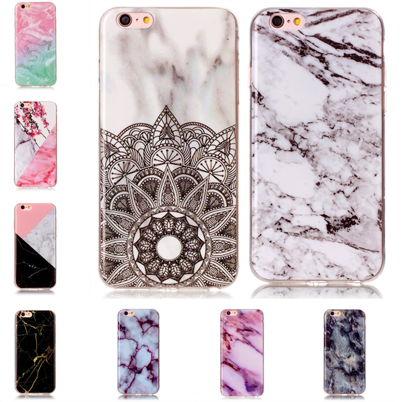 Granite Phone Cases for iPhone 6s Cover Soft Silicone TPU Gel for iPhone 6 Plus Marble M ...