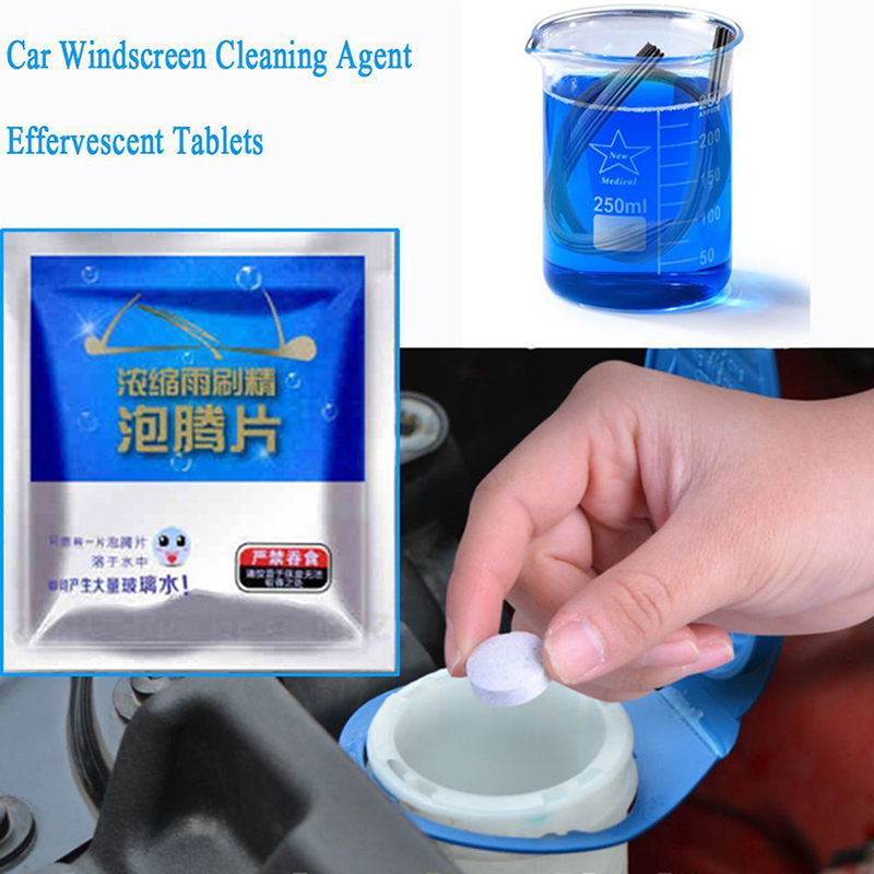 Aggressive 1pc/2pcs Auto Car Windshield Glass Wash Cleaning Concentrated Effervescent Tablets Cleaner Fluid Car Solid Cleaner