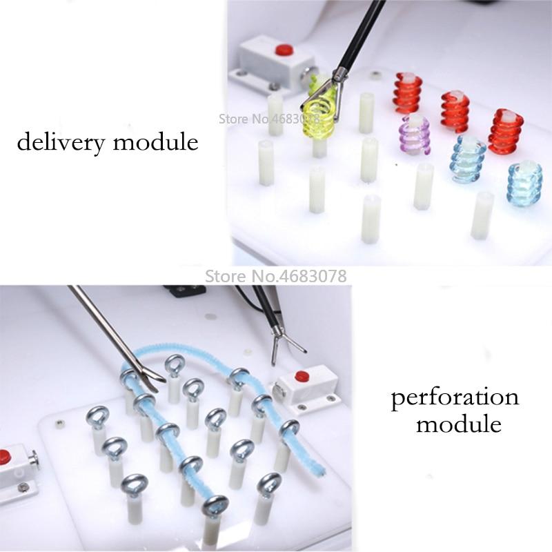 Nieuwe Laparoscopische chirurgie training module, hechtdraad, shear, schil, clip, tractie en perforatie module-in Kits met toilettassen van Schoonheid op  Groep 1