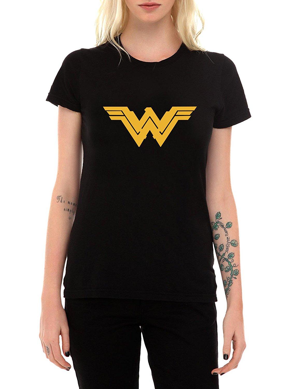 Возьмите Wonder Woman футболка Дизайн короткий рукав Футболка хорошее качество удобные мягче Топы корректирующие o Средства ухода за кожей Шеи Х...