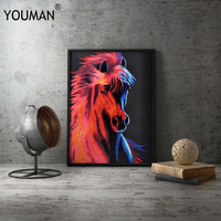modern new classical animal poster Chinese style wallpaper 3d painting posters decorative pictures canvas unfarmed poster decor