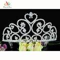 Pavo real Estrella de la dama de Honor Nupcial Al Por Mayor Del Corazón Alto Concurso de Belleza Del Desfile Tiara utilizar Cristal Austriaco CT1582