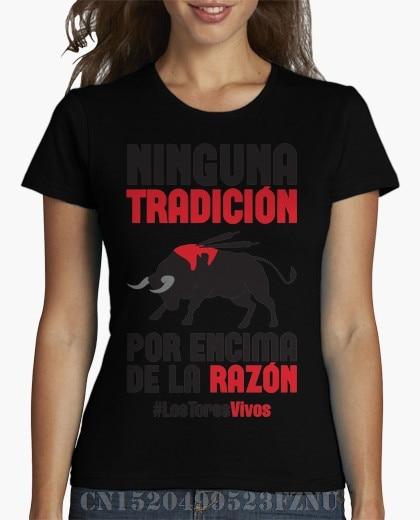 2018 Spring Panic buying t shirts womens Antitaurina - Los Toros Vivos Short Letter Cotton hip hop Print