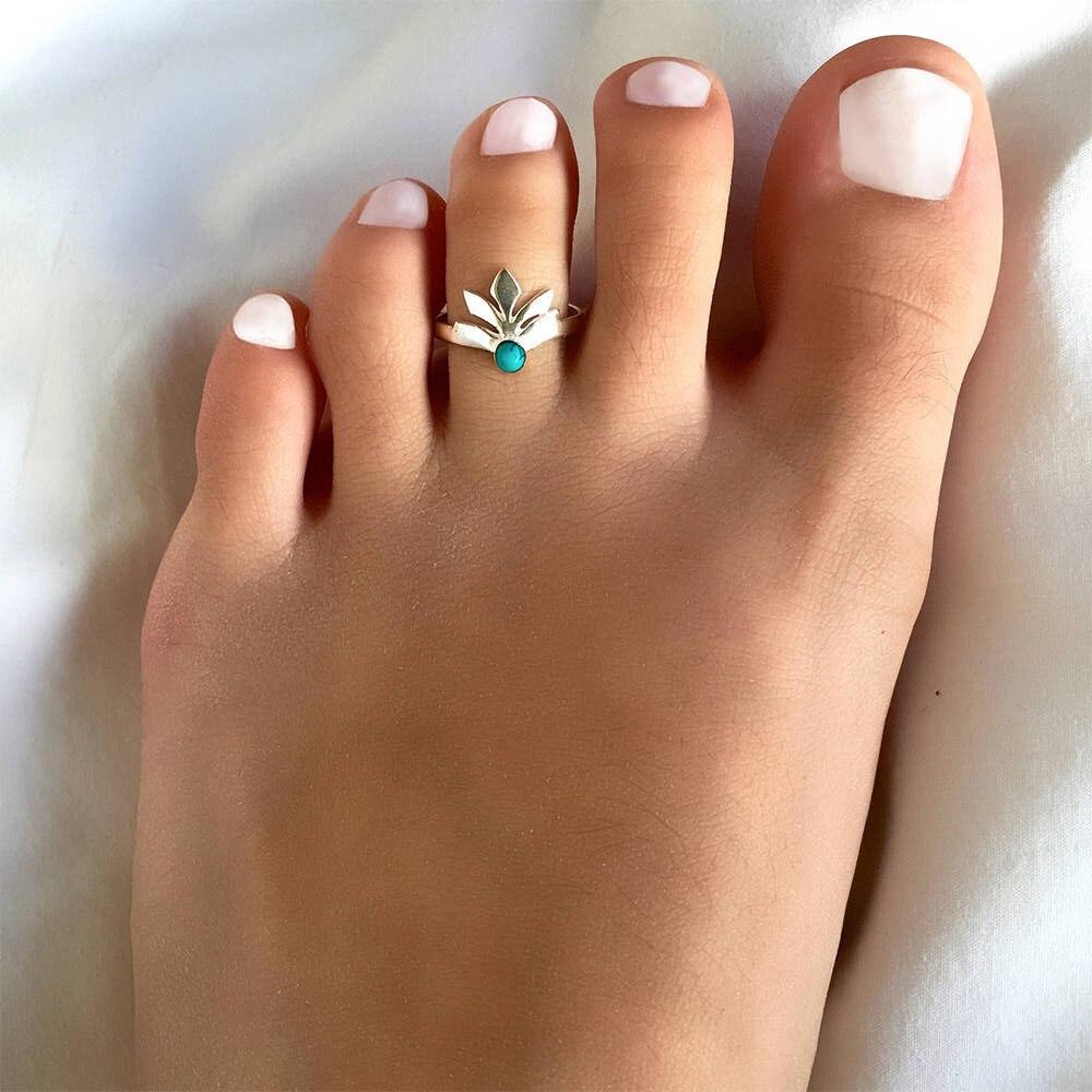 Best-selling Women Charm Simple Toe Ring Adjustable Foot Beach Jewelry PN
