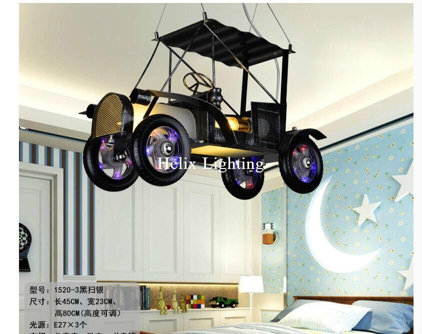 Moderne Auto Design Pendelleuchte Kinderzimmer Pendelleuchte Schwarz ...