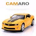 Chevy Camaro Автомобиль Модель Игрушки Моделирование Литья Под Давлением Металла Автомобилей 1:32 Масштаб Сплава Автомобиля Мальчик Любимый Коллекция Вытяните Назад Oyuncak Араба