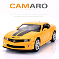 Chevy Camaro Car Model Toys Simulation Diecast Metal Autos 1:32 Scale Alloy Car Boy Favourite Collection Pull Back Oyuncak Araba