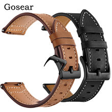 Gosear PU Leather Watch Band Wristband Bracelet Replacement Strap for Xiaomi Xiao Mi Huami Amazfit Bip Youth Edition Accessories(China)