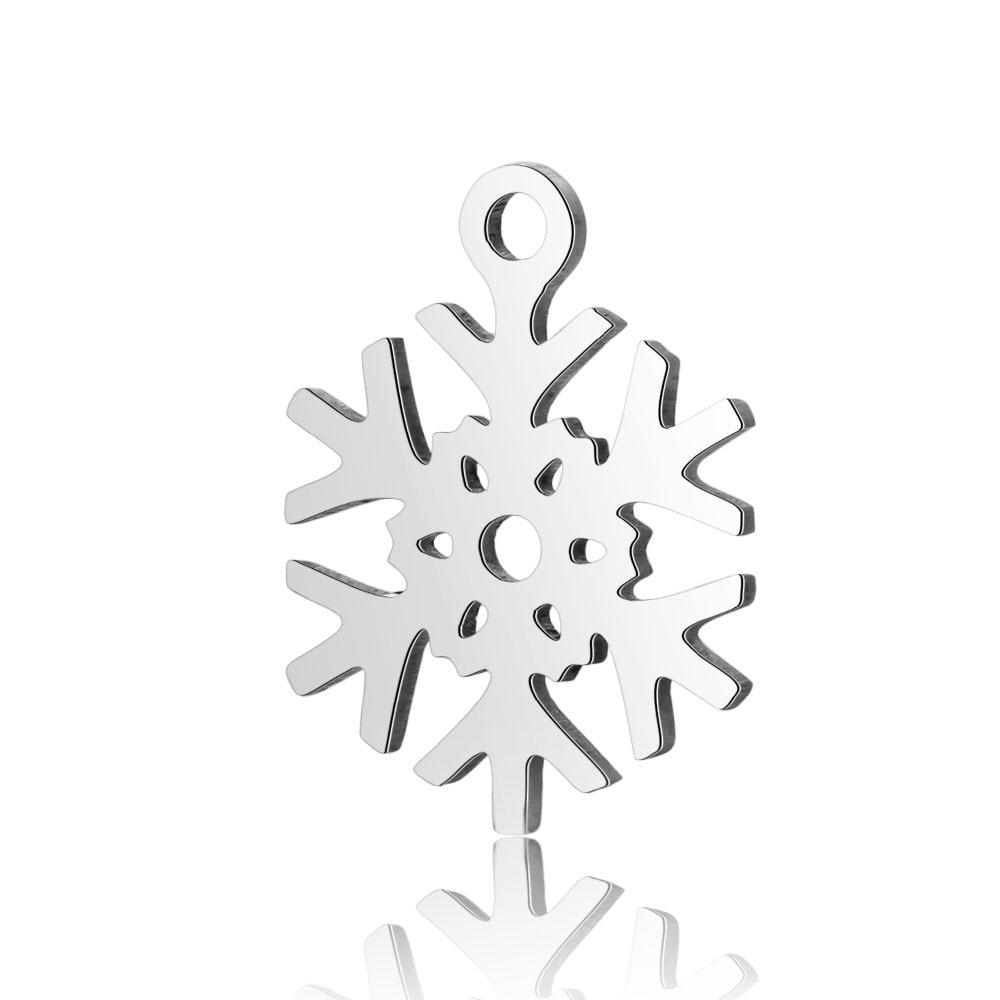 10 шт./лот из нержавеющей стали Угловые Подвески VNISTAR полированная звезда снежинка Звездная Луна DIY ювелирные изделия Шарм поиск поставки