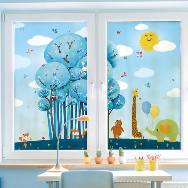 Home Decor Decorative Glass Window Film Customized Size
