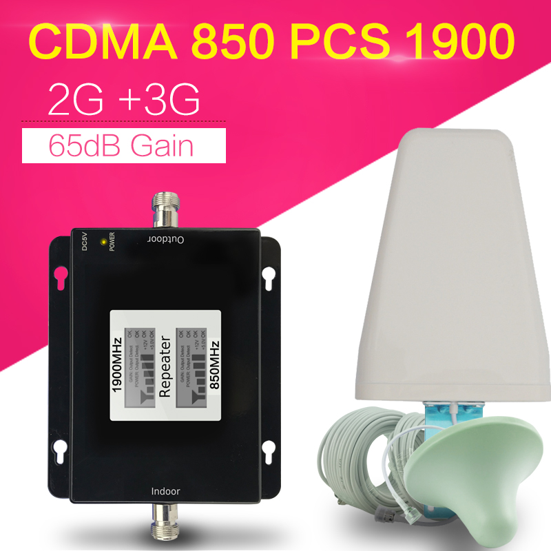 3G 4G CDMA 850 PCS 1900 Cellphone Signal Amplifier GSM 850mhz 1900mhz Mobile Phone Booster CDMA UMTS 1900 LTE 1900 Cell Repeater