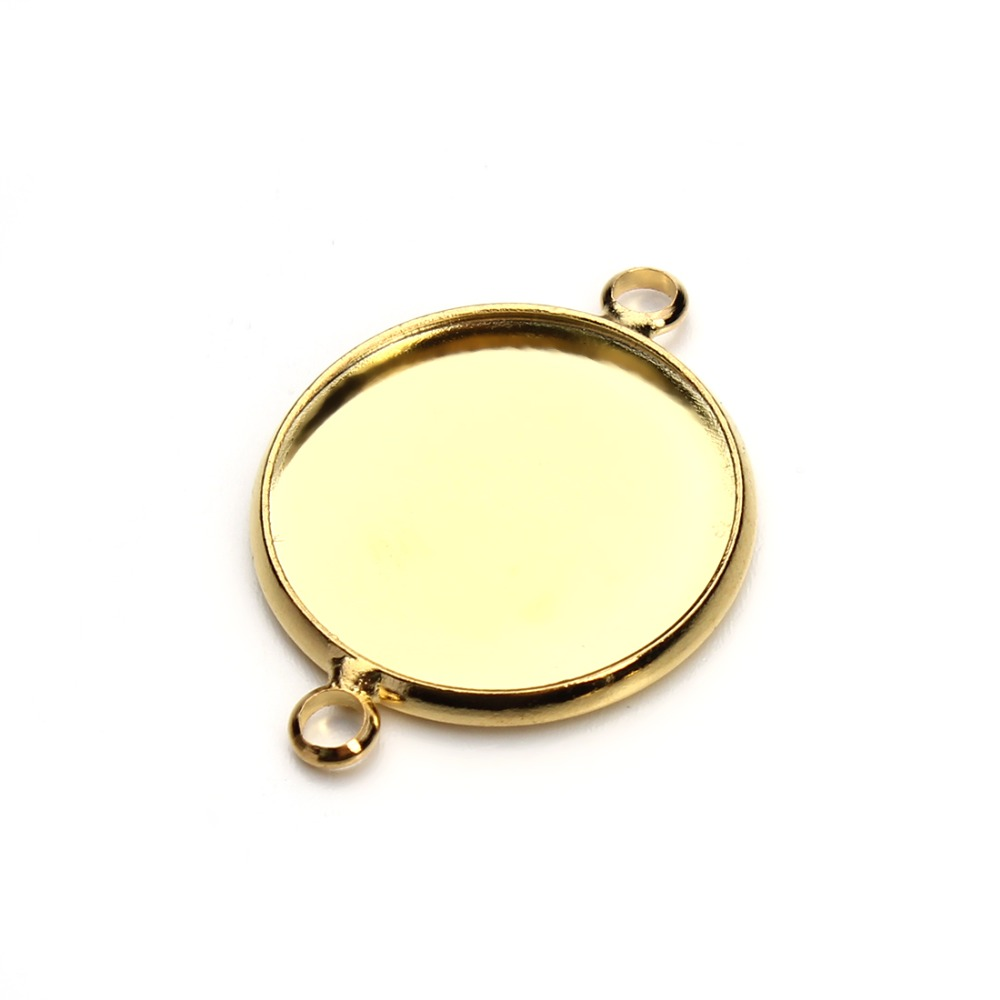 10pcs 10/12/14/16/18/20mm Gold Color Necklace Pendant Setting Cabochon Base Tray Bezel Blank Jewelry Making Findings F3327