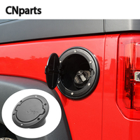CNparts Car Styling Stickers For Jeep Wrangler Rubicon JK 2007 2015 2016 2017 Accessories Fuel Tank Cap Door Gas Cover