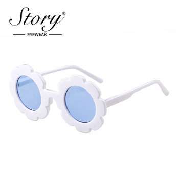 STORY 2018 Fashion Baby Kids Sunglasses Children Retro Candy Color Cute Flower Round Sun Glasses Girls Boys UV400 Gogle Eyewear