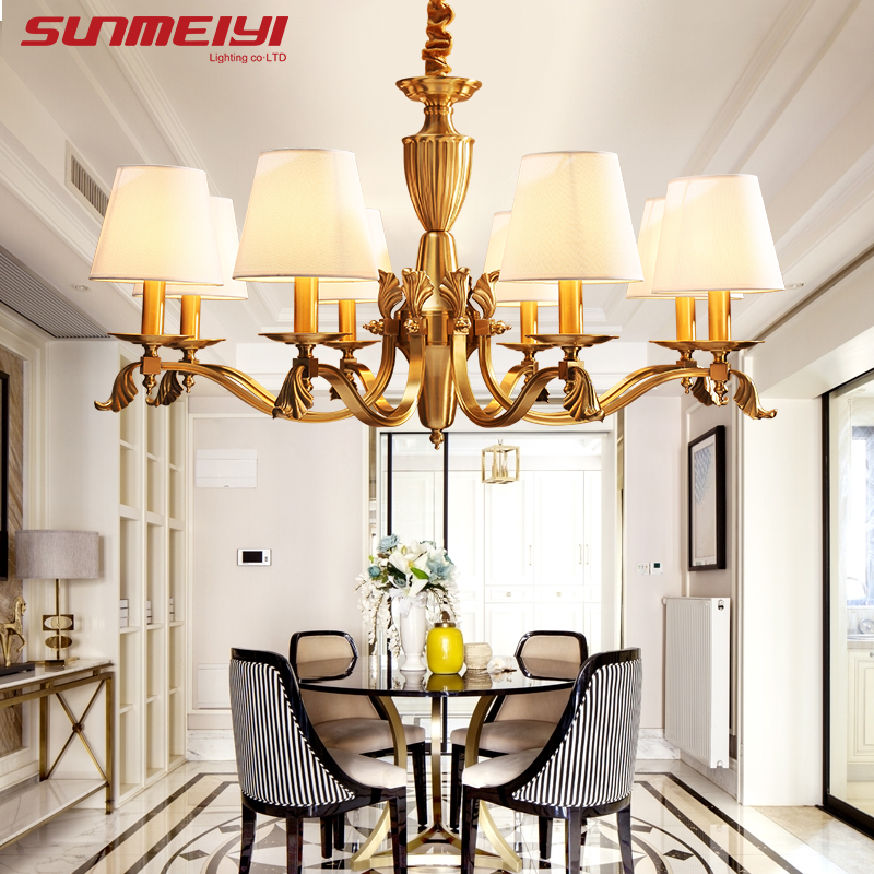 Living Room Lamp Shades: Vintage Modern LED Chandeliers With Lamp Shades Luster
