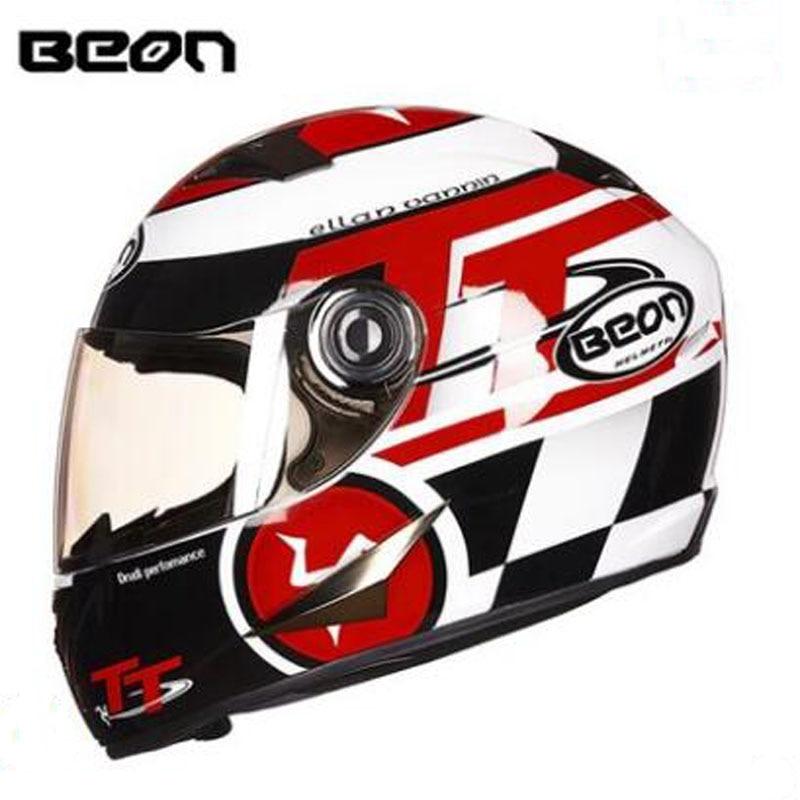 2017 Winter warm BEON Motorcycle helmet Full face Mototbike helmet Antifog transparent Lens visor Made of ABS