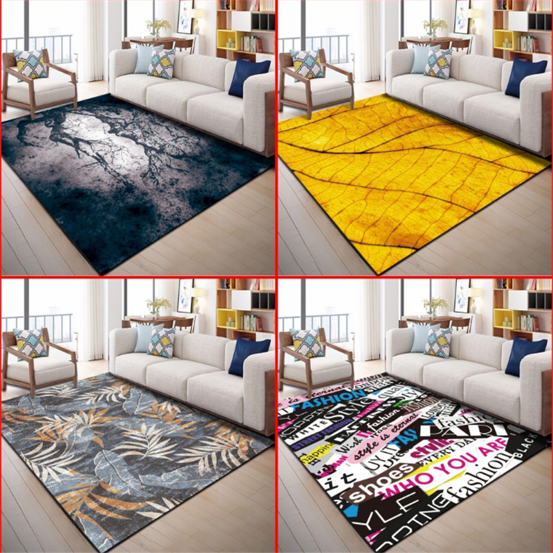 AOVOLL Modern Minimalist Literary Flower Pattern Carpet Rugs And Carpets For Home Living Room Bedroom Rugs Carpet Kids Room