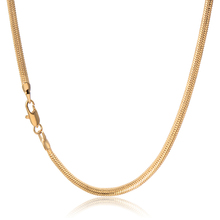 Classic Vintage Statement Men 18K Yellow Gold Plated 18inch 3mm Snake Chain Link Necklace Jewelry Wholesale Lot