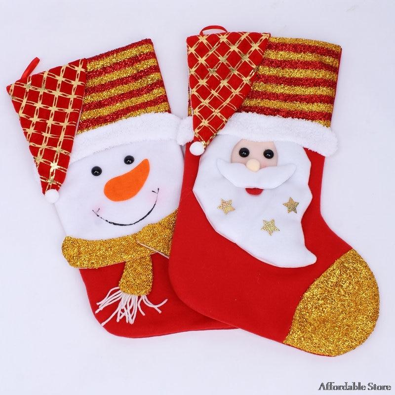 Christmas gift bag Santa Claus socks Christmas decorations Christmas snowman socks Christmas gifts