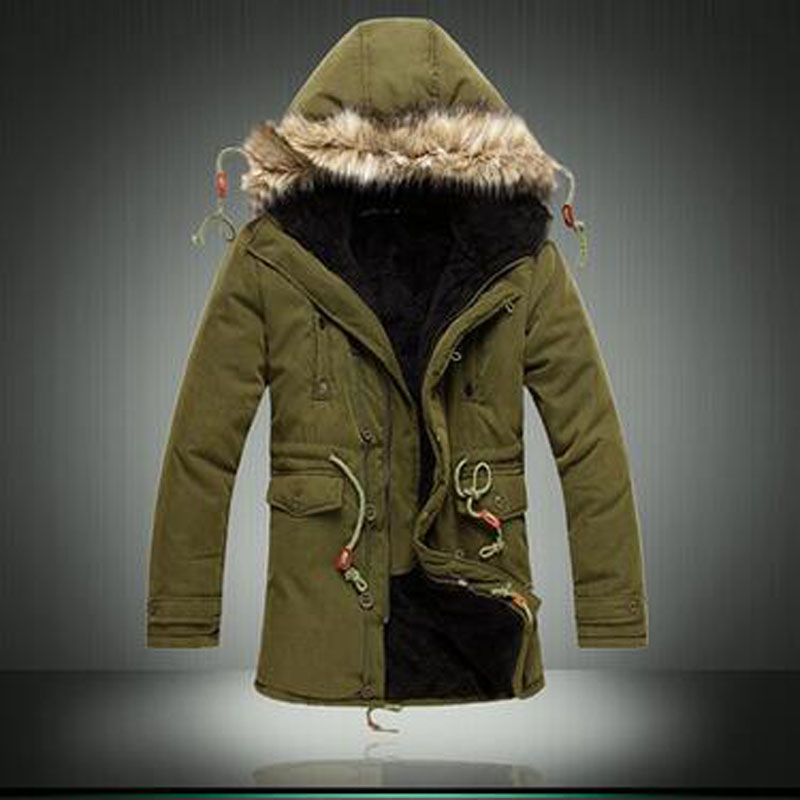 2016 New Fashion Men Casual Brand Thickening Winter Brand Clothing Coat Cotton-Padded Jacket Warm Parka 3XL NSWT191