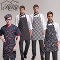 Adjustable Stripe Bib Apron Chef Waiter Kitchen Cook Kitchen Apron With 2 Pockets Tool Polyester Avental Delantal For Man Woman