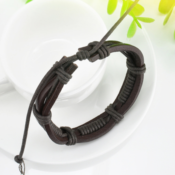 Wrap Multilayer PU Leather Bracelet Men Wristband Bracelets & Bangles For Women Men Fashion Jewelry Pulseras 1