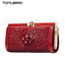 TOMUBIRD new quality cowhide material Crocodile Embossing Designer Handbags Leather Clutchs Bag Cross Body Purses