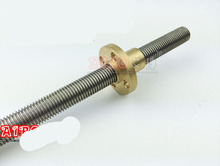 Reprap 3d printer DIY T8-2-D8 Ultimaker 400mm lead screw/threaded rod threaded diameter 8mm helical/screw pitch: 8mm