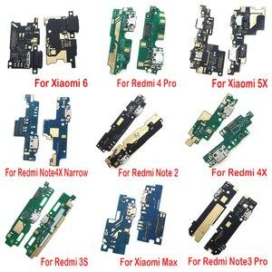 10 шт./лот, док-станция для зарядки с usb-портом, гибкая плата для зарядки портов для Xiaomi redmi 4A 4X Prime 5 6 Note 3 5 6 S2 5A 7 Pro