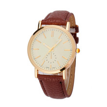 Unisex Leather Band Analog Quartz Vogue Wrist Watch Watches ladies watch relogio masculino dropshopping free shipping M31 #60