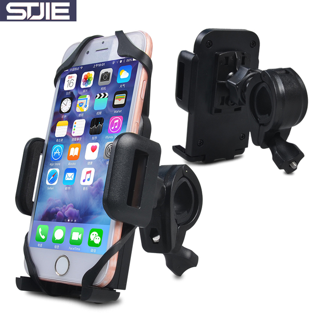 separation shoes 7c2c9 ff748 US $11.39 |STJIE universal bicycle phone holder strong mount support bike  for motorcycle motorbike iphone 5s 6s 7 8 plus-in Mobile Phone Holders & ...