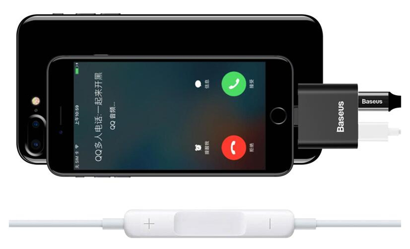 100pcs a lot Double for <font><b>Lightning</b></font> <font><b>Charger</b></font> for iPhone 8 7 X Plus <font><b>Charger</b></font> Music Control Calling iOS 11 free shipping