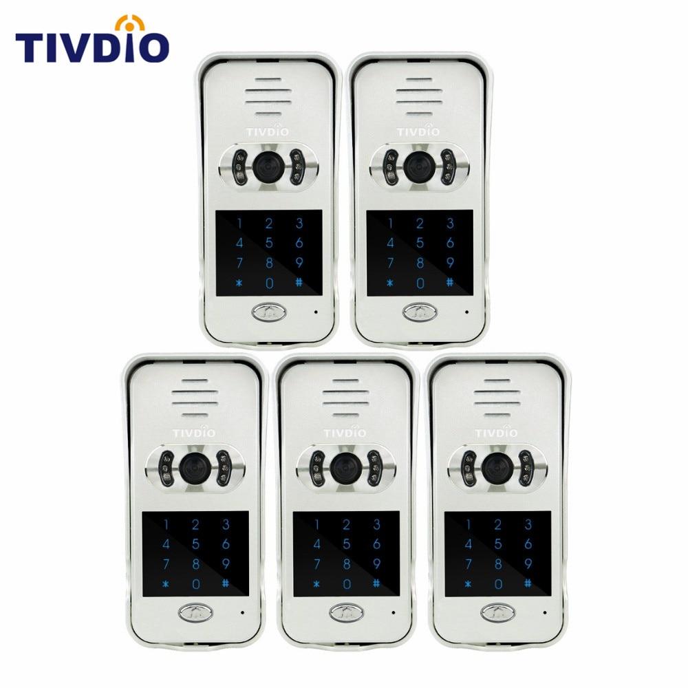 5 PCS TIVDIO Smart Home Doorbell Wi-Fi Enabled Video Doorbell Video Door Phone Wireless Intercom IR Vision Night F9502D