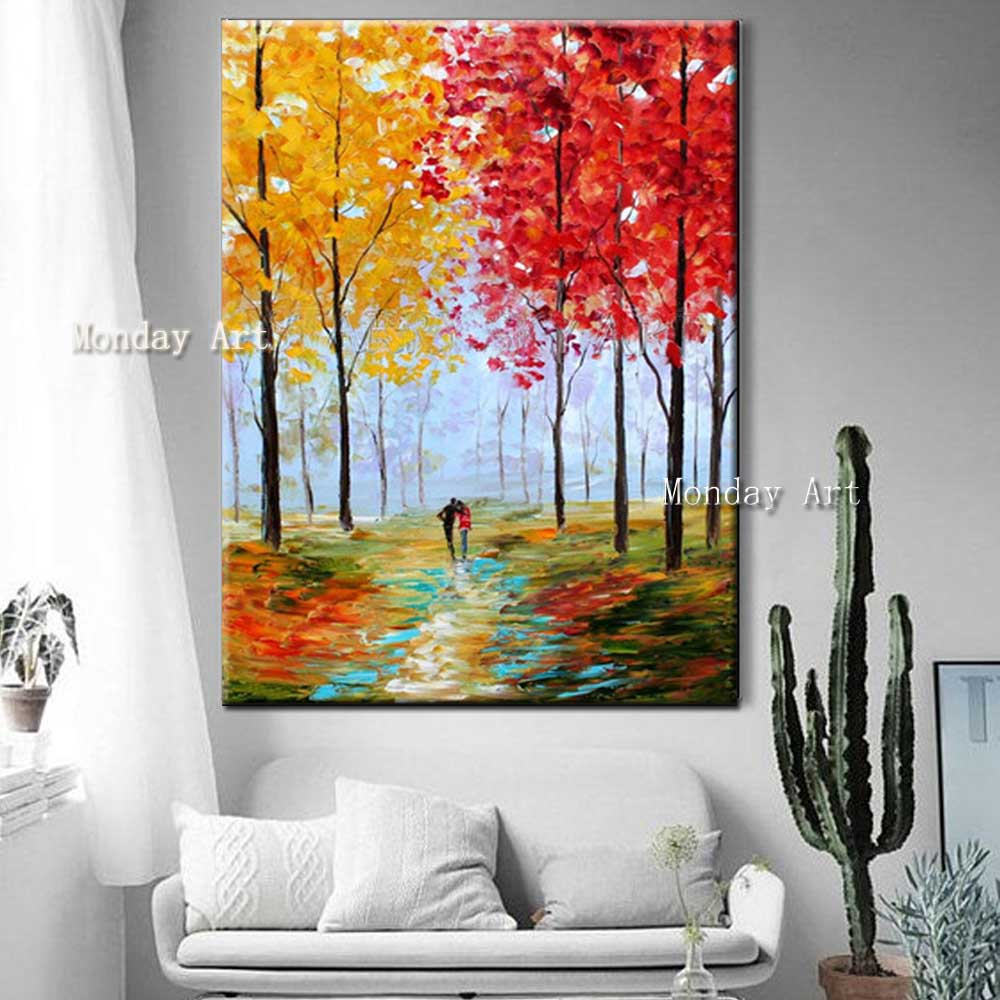 Hand-Painted-Abstract-Color-Forest-Autumn-Scenery-Oil-Painting-Abstract-Wall-Picture-Living-Room-Home-Wall (2)