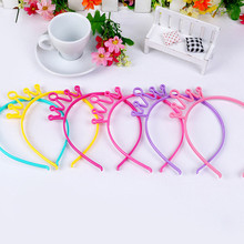 цены Plastic hairband for girls fashion tiaras headband colors crown hair clips children's headdress accessories kid gift 2 PIECES