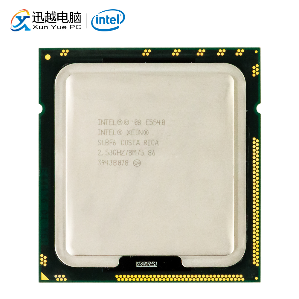 Intel Xeon E5540 Desktop Processor Quad-Core 2.53GHz L3 Cache 8MB 5.86 GT/s QPI LGA 1366 SLBF6 5540 Server Used CPU