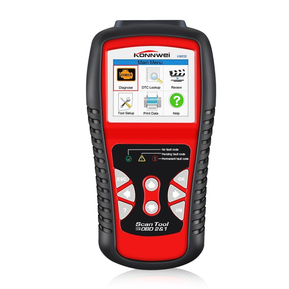 Scanner automobile de KONNWEI KW830 OBD2 ODB2 pour le Diagnostic de voiture lecteur de Code d'erreur automatique universel ODB2 Scanner de Diagnostic de voiture