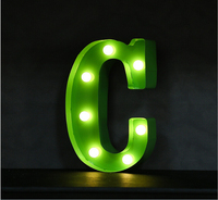 Good quality Letters LED Marquee Sign LIGHT UP Vintage alphabet Plastic letters light Indoor Deration.